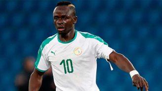 Sadio Mané en un partido con Senegal