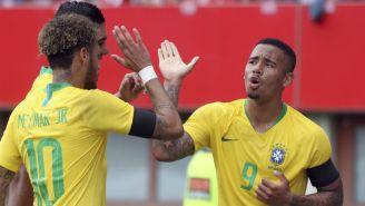 Brasil celebra una anotación contra Austria