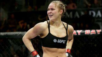 Ronda Rousey durante una de sus peleas en UFC
