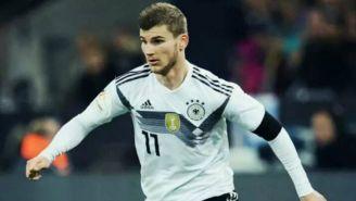 Werner en encuentro de la Selección de Alemania