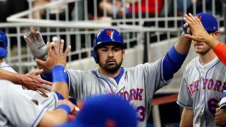 Titán González, durante un juego con Mets de Nueva York