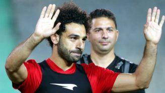 Salah durante un entrenamiento de Egipto