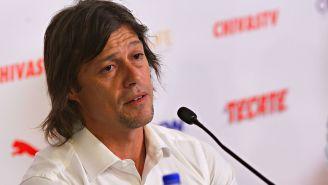 Matías Almeyda en conferencia de prensa