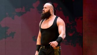Braun Strowman antes de una lucha en RAW
