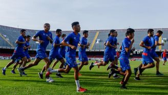 Jugadores de Veracruz en un entrenamiento de Pretemporada
