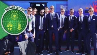 Jugadores de Suecia llegan a suelo ruso para el Mundial
