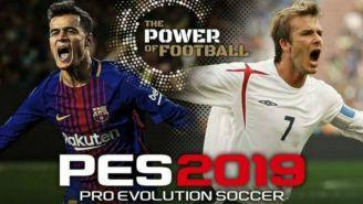 Coutinho y Beckham en la portada del PES 2019