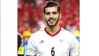 Saeid Ezatolahi, durante un partido con la Selección de Irán