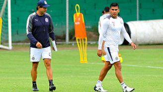 Cardozo, en su primera práctica como técnico de Chivas