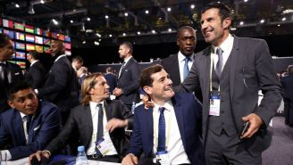 Campos, Salgado, Casilla y Figo en el Congreso de la FIFA