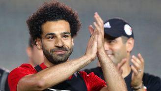 Salah, en entrenamiento con Egipto