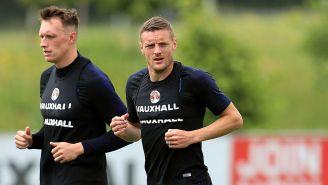 Jamie Vardy entrena con la Selección de Inglaterra