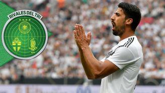 Khedira se lamenta en un partido de Alemania