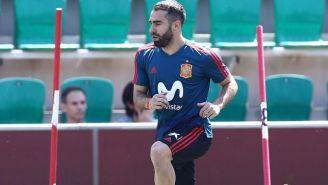 Carvajal, en entrenamiento con España