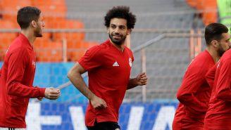 Mohamed Salah entrena con la Selección de Egipto