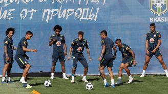 La Selección de Brasil entrena en Sochi