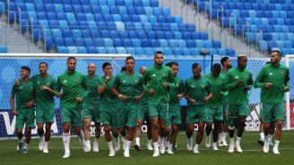 Marruecos, durante el entrenamiento previo a su debut en Rusia 2018