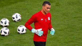 Essam El-Hadary entrena con la Selección de Egipto
