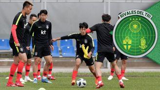 Corea del Sur en una sesión de entrenamiento