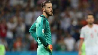 De Gea, pensativo en el juego entre Portugal y España en Rusia 2018