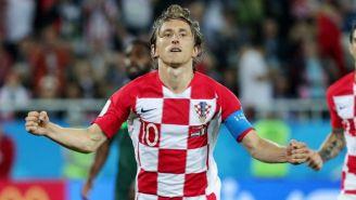 Luka Modric festeja su gol contra Nigeria