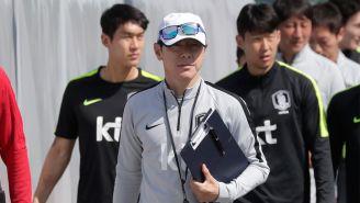 Shin Tae-yong, tras una práctica de Corea del Sur