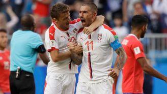 Kolarov celebra el gol de Serbia frente a Costa Rica