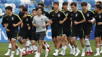 Corea del Sur, durante un entrenamiento en Rusia