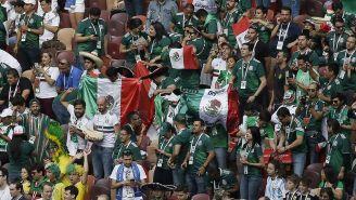 Aficionados de México durante un encuentro del Tri