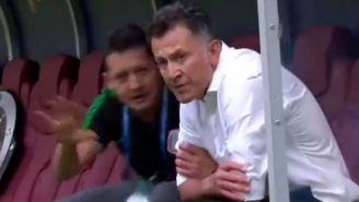 Osorio, durante el gol de México