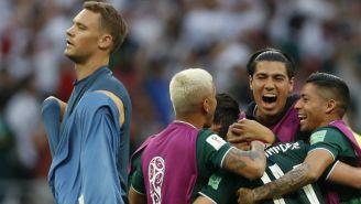 México celebra la victoria contra Alemania