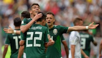 Moreno abraza a Lozano tras marcarle a Alemania