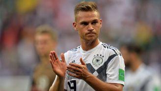 Kimmich se lamenta en el juego de Alemania contra México