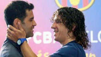Márquez y Puyol en instalaciones de Barça