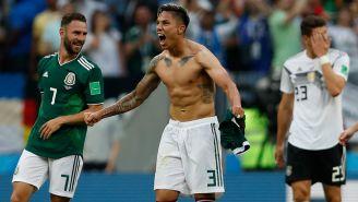 Salcedo festeja el triunfo de México contra Alemania