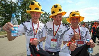 Aficionados alemanes previo a encuentro contra México