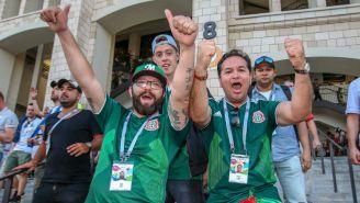 Afición celebra victoria de México sobre Alemania en Copa del Mundo