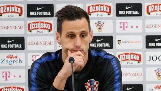 Nikola Kalinic en conferencia de prensa