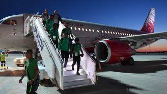 Jugadores de la Selección de Arabia Saudita llegan a Rostov