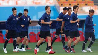 Jugadores de Japón durante un entrenamiento en Rusia