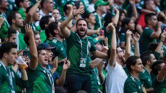 Afición Mexicana durante el partido contra Alemania