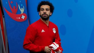 Mohamed Salah, previo al juego entre Egipto y Uruguay
