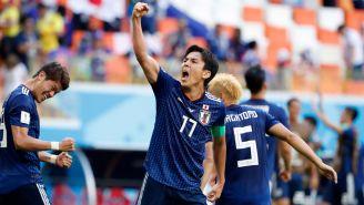 Yuya Osako celebra el tanto de la victoria de Japón