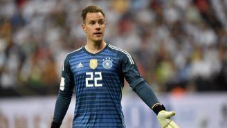 Marc-André ter Stegen, durante un juego con la selección de Alemania