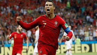 CR7 celebra su tercer tanto contra España en Rusia 2018