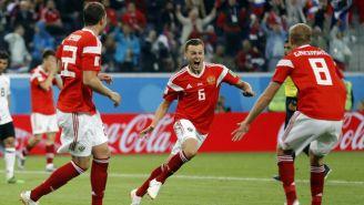 Cheryshev festeja su gol contra Egipto