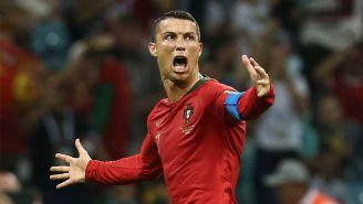 Cristiano festeja un gol en el duelo de Portugal contra La Furia