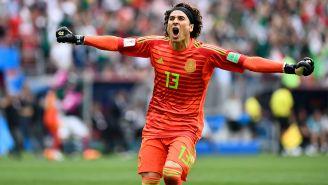 Ochoa festeja el triunfo del Tri contra Alemania en Rusia 2018