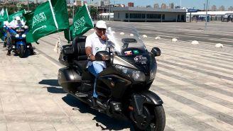 Seguidores de Arabia Saudita viajaron en moto hasta Rusia