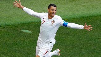 Cristiano Ronaldo celebra su tanto contra Marruecos